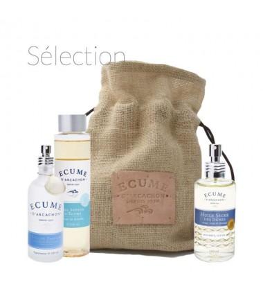 Coffret soin et parfum pour peau fragiles Écume d'Arcachon