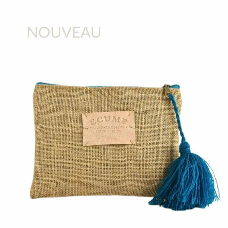 natural and blue pencil case